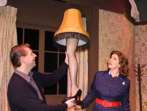 Tim Dominicus and Shana Kulhavy in A Christmas Story: The Musical