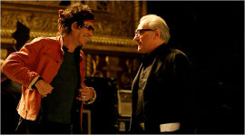 Keith Richards and Martin Scorsese in Shine a Light