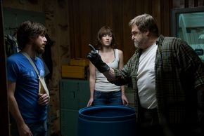 John Gallagher Jr., Mary Elizabeth Winstead, and John Goodman in 10 Cloverfield Lane
