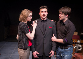 Anna Tunnicliff, Jordan Smith, and Tyler Henning in The 13th of Paris, photo by Captured Moment Photos