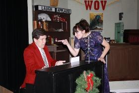 Steve Trainor and Leigh Van Winkle in A 1940s Radio Christmas Carol