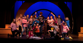 ensemble members in Davenport Junior Theatre's 20,000 Leagues Under the Sea