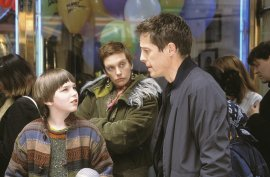 Nicholas Hoult, Toni Collette, and Hugh Grant in About a Boy