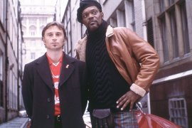 Robert Carlyle and Samuel L. Jackson in Formula 51