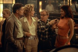 Treat Williams, Tea Leoni, Woody Allen, and Debra Messing in Hollywood Ending