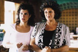 Nia Vardalos and Lainie Kazan in My Big Fat Greek Wedding