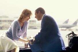 Emily Watson and Adam Sandler in Punch-Drunk Love