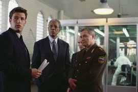 Ben Affleck, Morgan Freeman, and Lev Prygounov in The Sum of All Fears