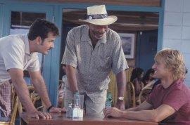 Charlie Sheen, Morgan Freeman, and Owen Wilson in The Big Bounce