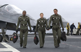 Jamie Fozz, Jessica Biel, and Josh Lucas in Stealth