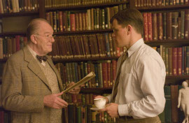 Michael Gambon and Matt Damon in The Good Shepherd