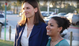 Hilary Swank and April L. Hernandez in Freedom Writers