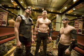 Chris Pine, Kevin Durand, and Maury Sterling in Smokin' Aces