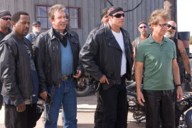 Martin Lawrence, Tim Allen, John Travolta, and William H. Macy in Wild Hogs