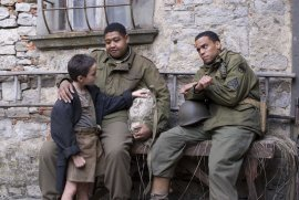 Matteo Sciabordi, Omar Benson Miller, and Michael Ealy in Miracle at St. Anna