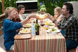 Annette Bening, Julianne Moore, Josh Hutcherson, Mia Wasikowska, and Mark Ruffalo in The Kids Are All Right