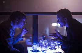 Jesse Eisenberg and Justin Timberlake in The Social Network