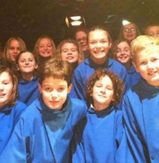 members of the It's a Wonderful Life: A live Radio Play children's choir