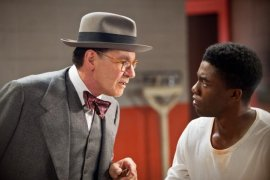 Harrison Ford and Chadwick Boseman in 42
