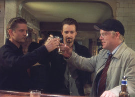 Barry Pepper, Edward Norton, and Philip Seymour Hoffman in 25th Hour