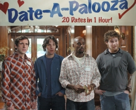 Steve Carell, Paul Rudd, Romany Malco, and Seth Rogen in The 40-Year-Old Virgin
