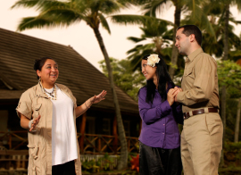 Cindy Ramos-Parmley, Stacy Phipps, and Nicholas Nolte in South Pacific