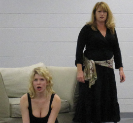 Maggie Woolley and Angela Rathman in Pericles: Prince of Tyre