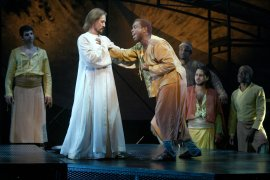Ted Neeley and Corey Glover in Jesus Christ Superstar