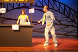 Lora Adams and Jerry Wolking in Living Here's Fudge!