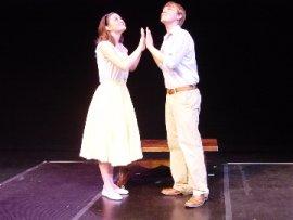 Erin O'Shea and Jack Kloppenborg in The Fantasticks