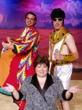 Dallas Drummond, Chris Castle, and Nathan Batles in Joseph & the Amazing Technicolor Dreamcoat