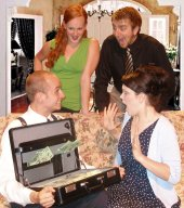 Ben Mason, Sarah Dothage, Jeremy Day, and Cassandra Marie Nuss in Funny Money