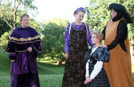 Gryan Woods, Grace Pheiffer, Anna Tunnicliff, and Susan Perrin-Sallak in The Winter's Tale