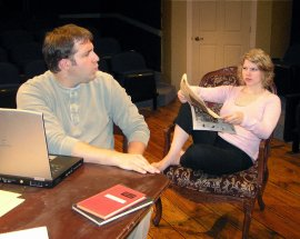 Jeremy Mahr and Maggie Woolley in Arcadia