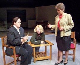 Emmalee Moffett, Amanda Landreth, and Stephanie Naab in Sylvia