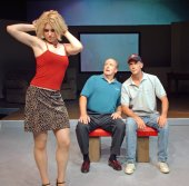 Mandy Landreth, Greg Bouljon, and Greg Kerr in Sylvia