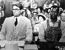 Gregory Peck and Brock Peters in To Kill a Mockingbird