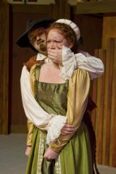 Brian Bengtson and Jennifer Altenbernd in The Taming of the Shrew