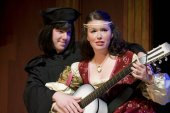 Kevin Wender and Jessica Benson in The Taming of the Shrew