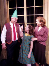 Gary Golz, Lauren Boswell, and Jennifer Sondgeroth in Miracle on 34th Street