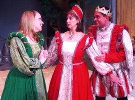 Heather McGonigle, Valeree Pieper, and Joe Urbaitis in Once Upon a Mattress