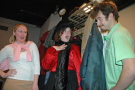 Dana Jarrard, Alysa Grimes, and Neil Friberg in Death in Character