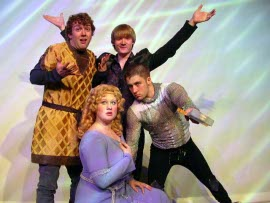 Ryan Westwood, Emily Kurash, Seth Kaltwasser, and Jeremy Pack in Pippin