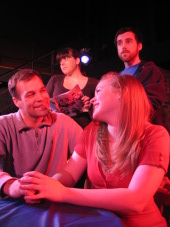Jonathan Gregoire, Colleen Winters, Abby Van Gerpen, and Andrew Harvey in The Melville Boys