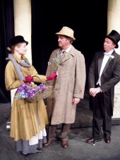 Jenny Winn, Mark McGinn, and Harold Truitt in My Fair Lady