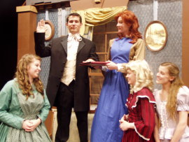 Laurel Williams, Danny White, Erin O'Shea, Abbey Donohoe, and Sarah Walker in Little Women