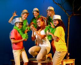 Alison Scherer and ensemble members in Children of Eden