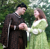 Andy Koski and Aisha Ragheb in Romeo and Juliet