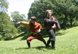 Mike King and Aaron Sullivan in Romeo and Juliet