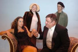 Andrea Kapusinski, Sheri Hess, Dave Arnold, and Bryan Tank in Evita